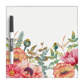 Garden Poppies Dry Erase Board