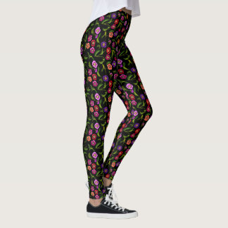 Garden Poppy Floral Leggings