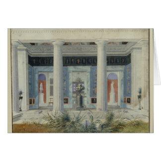 Garden portico, c.1834 card
