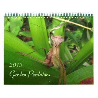 Garden Predators 2013 Calendars
