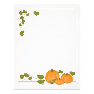 Garden Pumpkins Paper