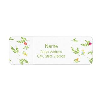 Garden Return Address Label