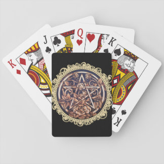 Garden Rose Pentacle Playing Cards
