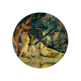 Garden Round Clock