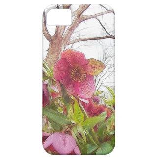Garden Scene - Hellebores And Old Oak iPhone 5 Case