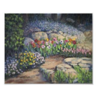 Garden Scene Photo Print