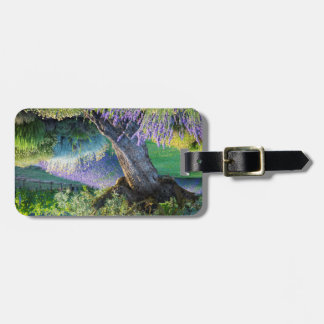 Garden scenic with flowers, France Luggage Tag