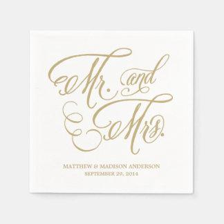 Garden Script | Personalized Paper Napkins