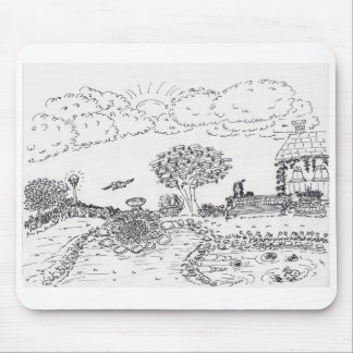 Garden Sketch Mouse Pad