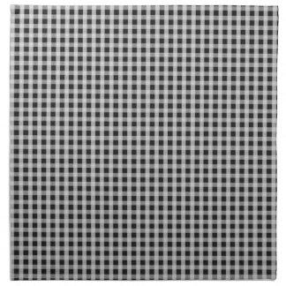Garden Sludge Grey Gingham Check Plaid Pattern Cloth Napkins