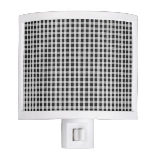 Garden Sludge Grey Gingham Check Plaid Pattern Nite Light