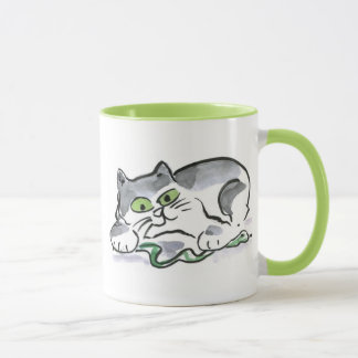Garden Snake and the Curious Kitten Mug
