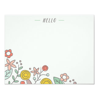 Garden Soirée Stationery - Crimson Card
