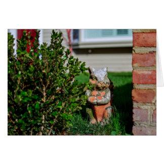 Garden Squirrel - Blank Greeting Card