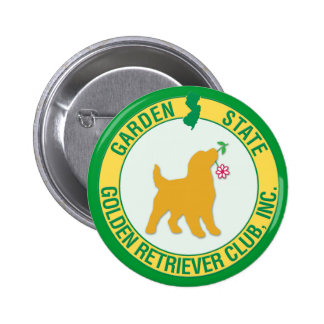 Garden State Golden Retriever Button