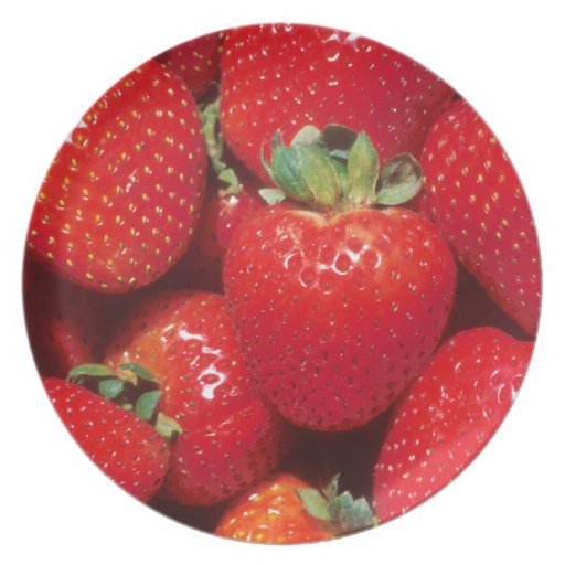 Garden Strawberries Party Plate