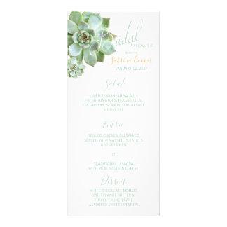 Garden Succulent Bridal Shower Menu