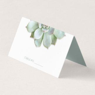 Garden Succulent Cactus Wedding Place Card