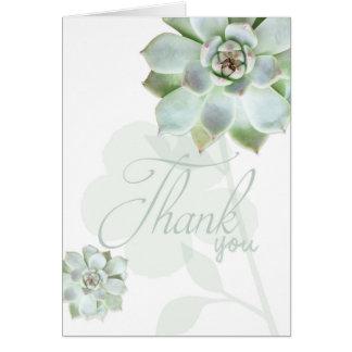 Garden Succulents Wedding Thank You Card
