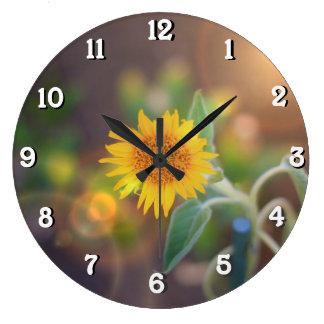 Garden Sunflower wall clock