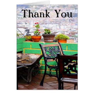 Garden Terrace Thank You Card