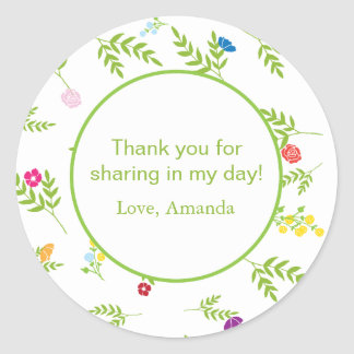 Garden Theme Favor Sticker