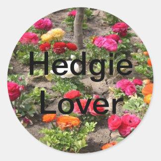 Garden Themed Hedgehog Prouducts Round Sticker