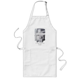 garden tools watering can and pots still life art long apron