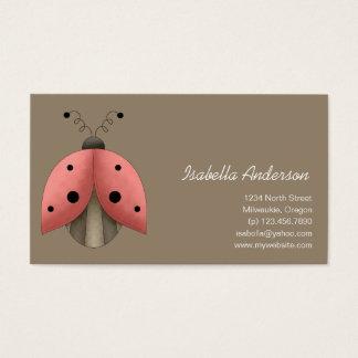 Garden Treasures · Ladybug Business Card