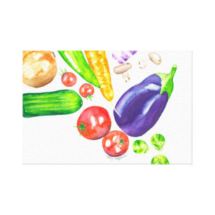 Garden Vegetable Art Print