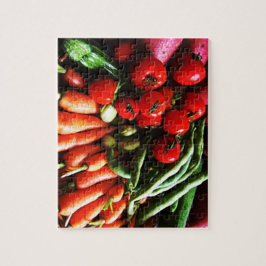 Garden Vegetables Photo Print Jigsaw Puzzle