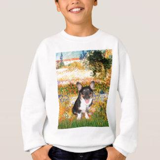 Garden (VG) - Welsh Corgi (tri Pembroke pup) Sweatshirt