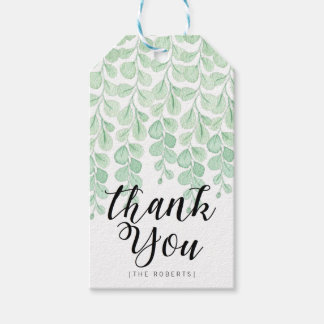 Garden Vine Watercolor | Thank You Gift Tags
