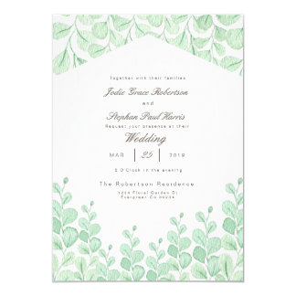 Garden Vines | Watercolor Wedding Invitation