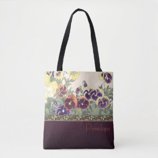 Garden Violet Design Tote Bag
