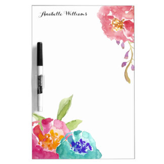 Garden Watercolor Personalized Dry Erase Board