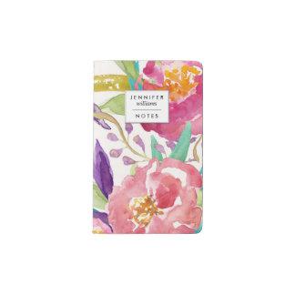 Garden Watercolor Personalized Pocket Moleskine Notebook