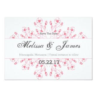 "Garden Wedding Save the Date 5"" X 7"" Invitation Card"