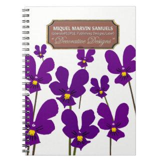 Garden Weeds Decorative White Modern Notebook