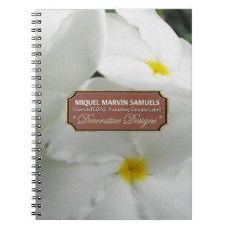 Garden White Decorative Modern Nature Notebook