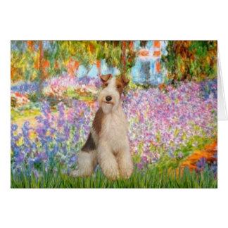 Garden -Wire Fox Terrier 3 Card