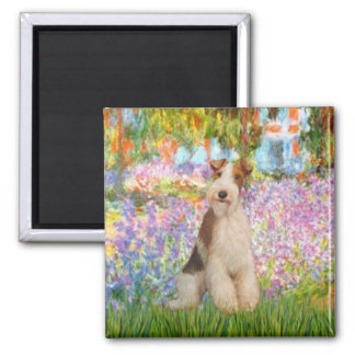 Garden -Wire Fox Terrier 3 Magnet