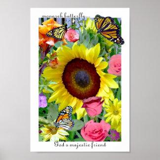 Garden with Monarchs print