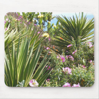 Garden With Variety Of Plants and Colorful Flowers Mouse Pad