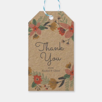 Garden Wreath Thank You Gift Tags