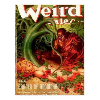 Gardener and Napping Woman Postcard