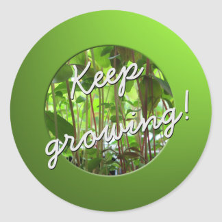 Gardener Keep Growing Plants Round Sticker