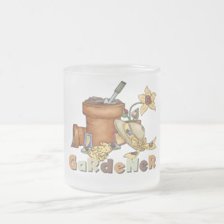 Gardener Tshirts and Gifts Frosted Glass Coffee Mug