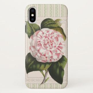 Gardener's Joy Vintage Pink and White Camellia iPhone X Case