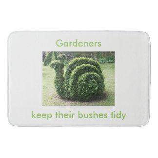 Gardeners keep their bushes tidy topiary shower bathroom mat